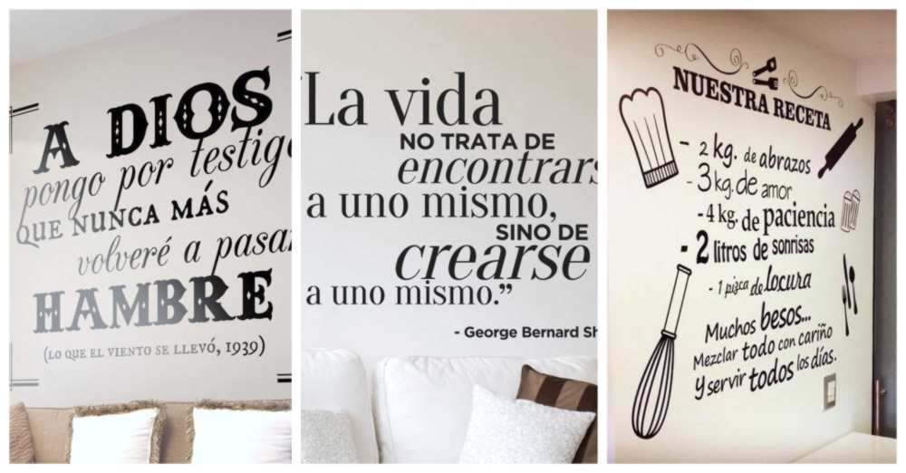 paredes decoradas con frases