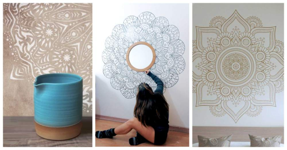 paredes pintadas con mandalas para decorar