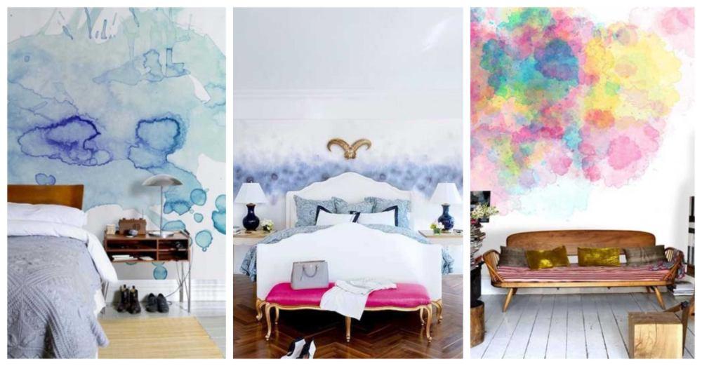 pintar paredes con efecto acuarela